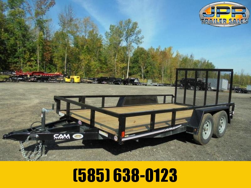2021 Cam Superline 7X14 Tube Top 7K Utility Trailer