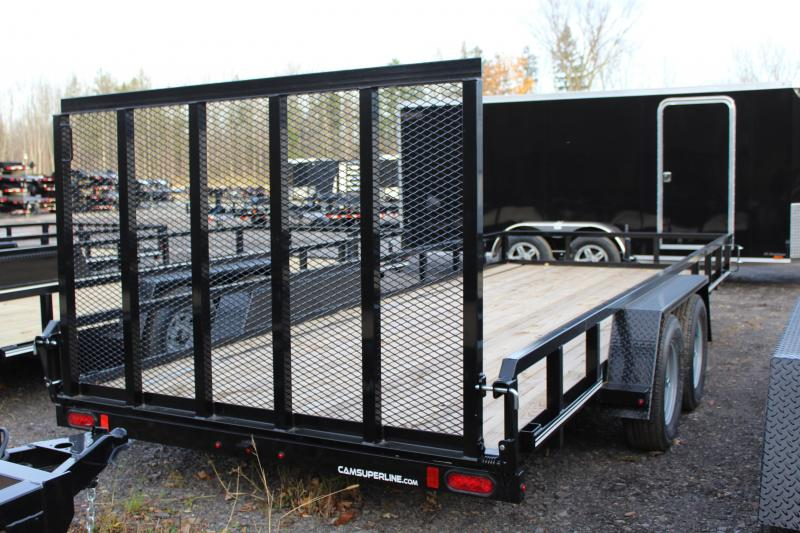 2021 Cam Superline 7x18 Tube Top Utility Trailer