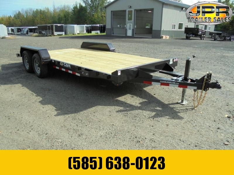 2021 Cam Superline 18 Ft Wood Deck Car Hauler