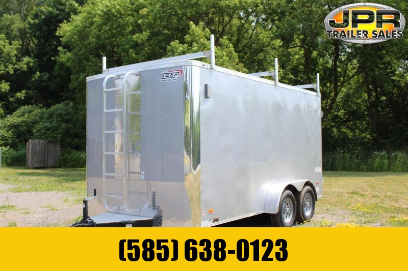 "2020 Bravo Trailers 7x14 Scout Cargo Trailer Extra 6"" Height with Contractor Package-Silver"