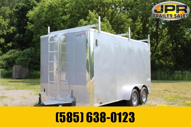 "2021 Bravo Trailers 7x14 Scout Cargo Trailer Extra 6"" Height with Contractor Package-Silver"