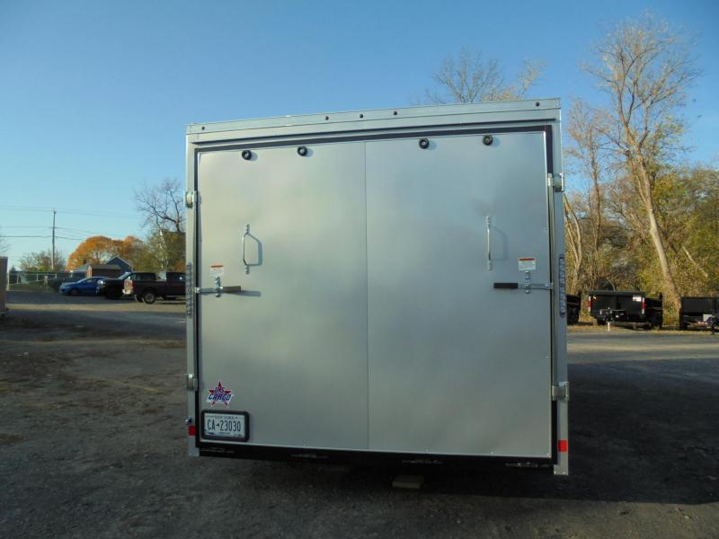 """2021 US Cargo 8.5X20 Enclosed Car Hauler with Extra 6"""" Height"""