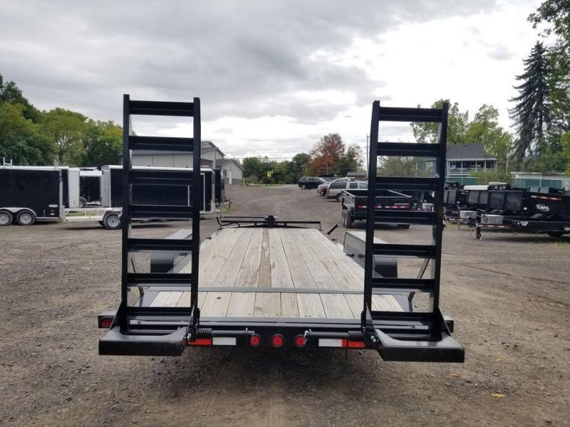 2019 Iron Bull 20' Equipment Trailer w/ Stand-Up Ramps 16K