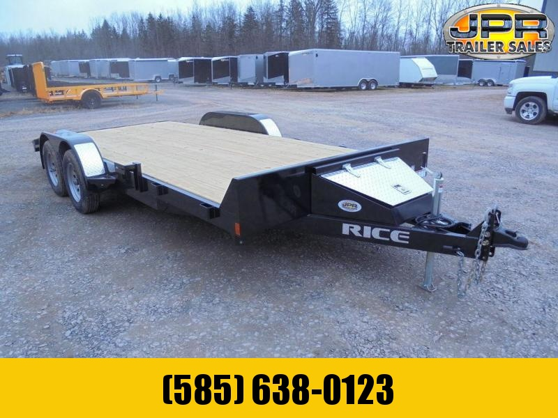 "2021 Rice Trailers 82""X18' Open Car Hauler 7K"