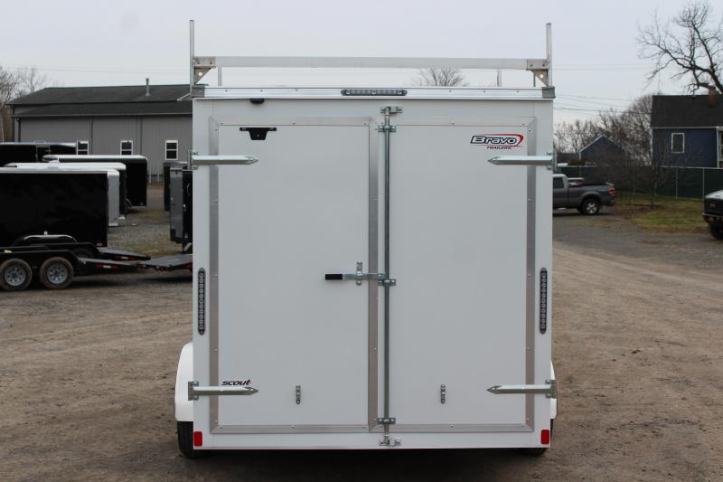 "2020 Bravo Trailers 7x14 Scout Cargo Trailer Extra 6"" Height with Contractor Package-White"