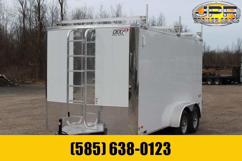 "2021 Bravo Trailers 7x14 Scout Cargo Trailer Extra 6"" Height with Contractor Package-White"