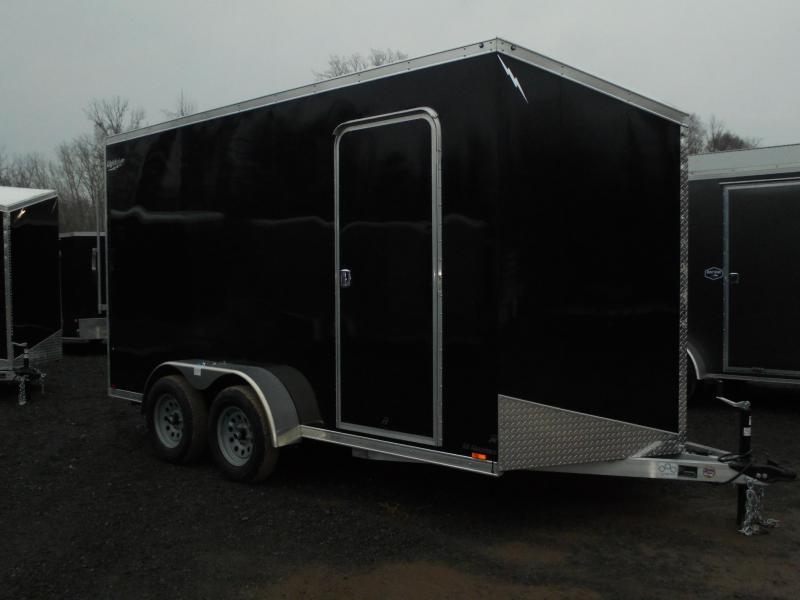"2021 Lightning 7x14 Enclosed Cargo Trailer w/ Ramp Door & Extra 12"" Interior"