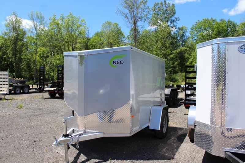 2021 NEO 5x8 Flat Top Cargo Trailer Barn Door