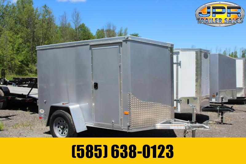 2021 NEO 5x8 Flat Top Cargo Trailer Barn Door