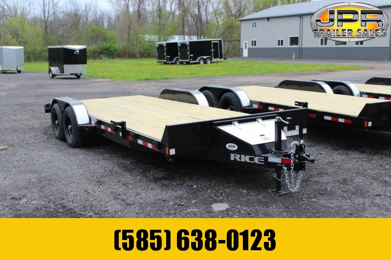 2021 Rice Trailers 20 Ft Wood Deck Car Hauler