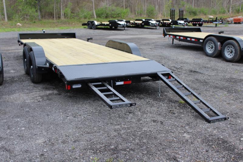 2021 Rice Trailers 20 Ft Wood Deck Car Hauler