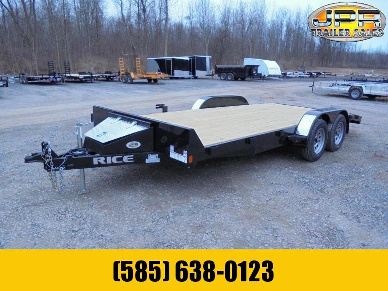 2021 Rice 18 Ft Wood Deck Car / Racing Trailer