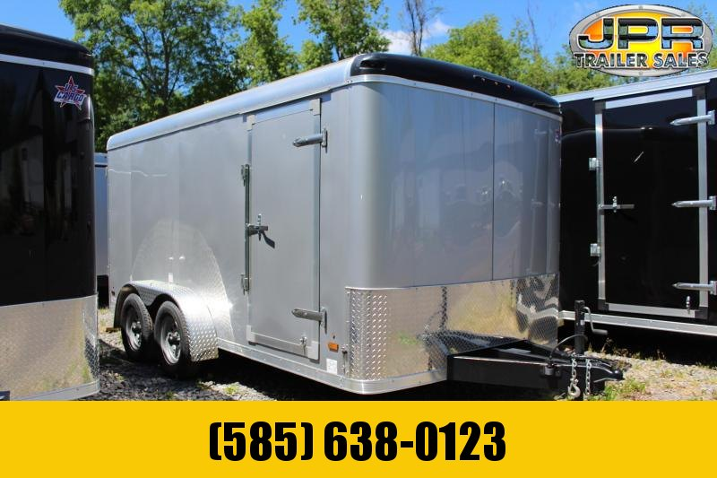 2020 US Cargo 7x14 Cargo Trailer with Barn Doors-Silver