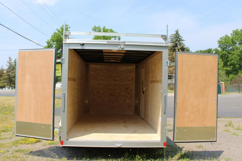 """2020 Bravo Trailers 7x14 Scout Cargo Trailer Extra 6"""" Height with Contractor Package-Black"""