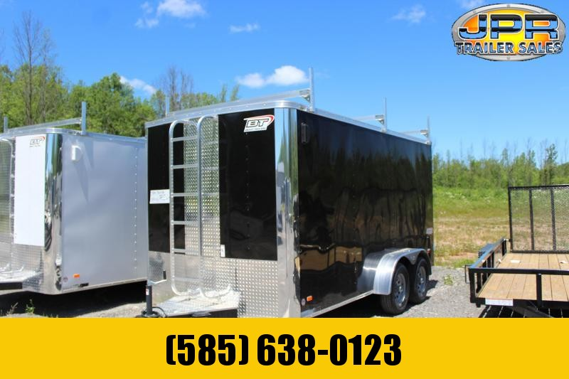"2021 Bravo Trailers 7x14 Scout Cargo Trailer Extra 6"" Height with Contractor Package-Black"