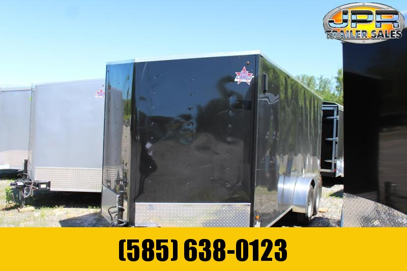 2021 US Cargo 7x16 Enclosed Cargo Trailer-Black