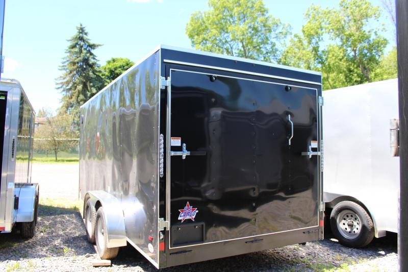 2021 US Cargo 7x16 Enclosed Cargo Trailer-Black