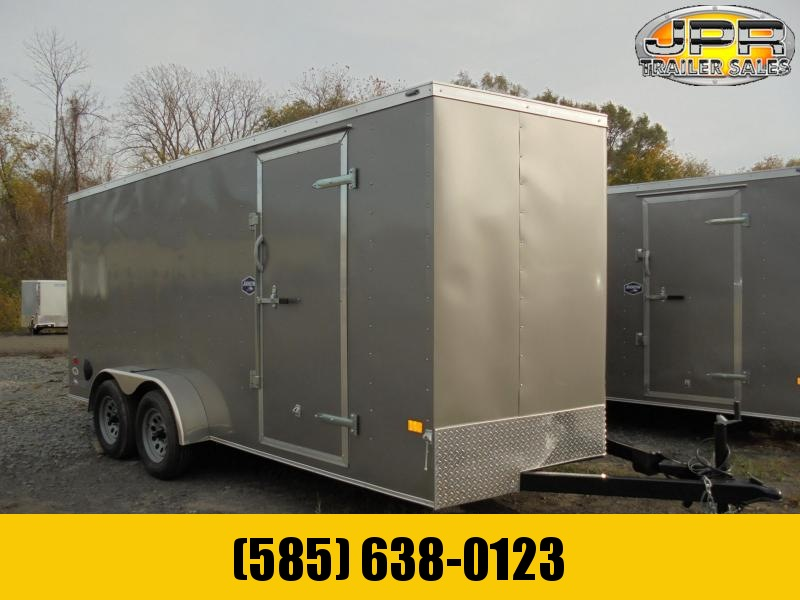 2021 American Hauler 7X16 Cargo Trailer-Silver