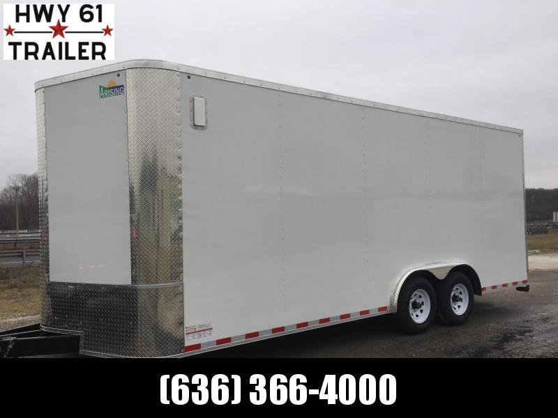 "2021 ARISING 8.5x22 TA 52K 7'6"" v-nose White enclosed"