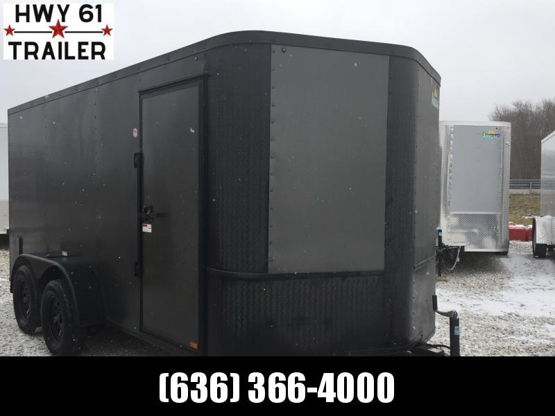 "2021 ARISING 7x18 TA 35K 7'3"" v-nose Charcoal Blackout enclosed"
