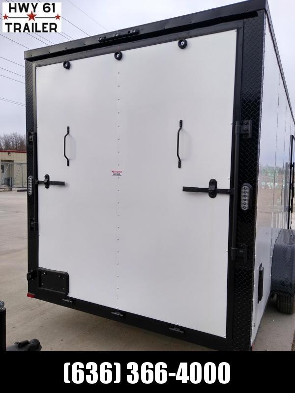"2021 ARISING 8.5x20 TA 52K 7'6"" v-nose White/Blackout enclosed"