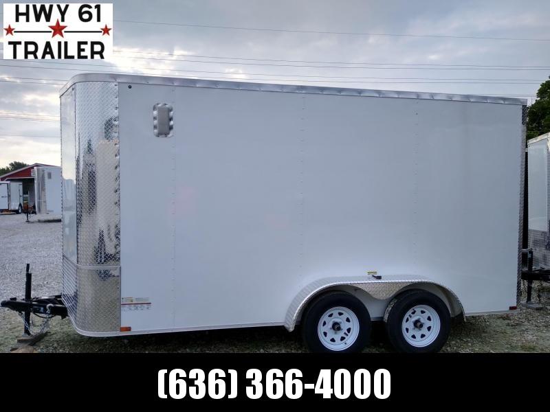 "2021 ARISING 7X14 TA 35K 7'6"" v-nose White enclosed"
