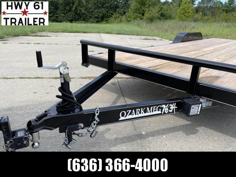 2021 Ozark 82X22 TA 14K 5' HD fold down ramps 2' dovetail 1 brake equipment