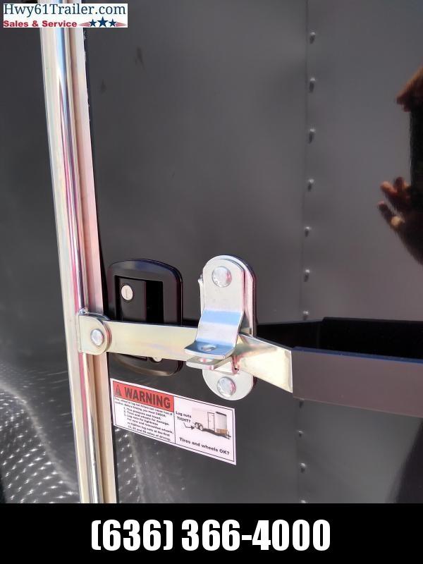 "2021 Arising 7x16 TA V-nose RAMP Lockbar 7'3"" BLACK WHOLESALE Enclosed Cargo Trailer"