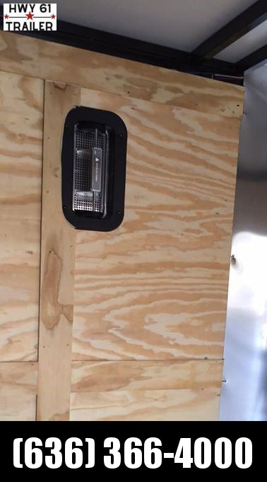 "2021 ARISING 8.5x16 TA V-nose RAMP 7'6"" Side Vents White/Blackout Wholesale!!"