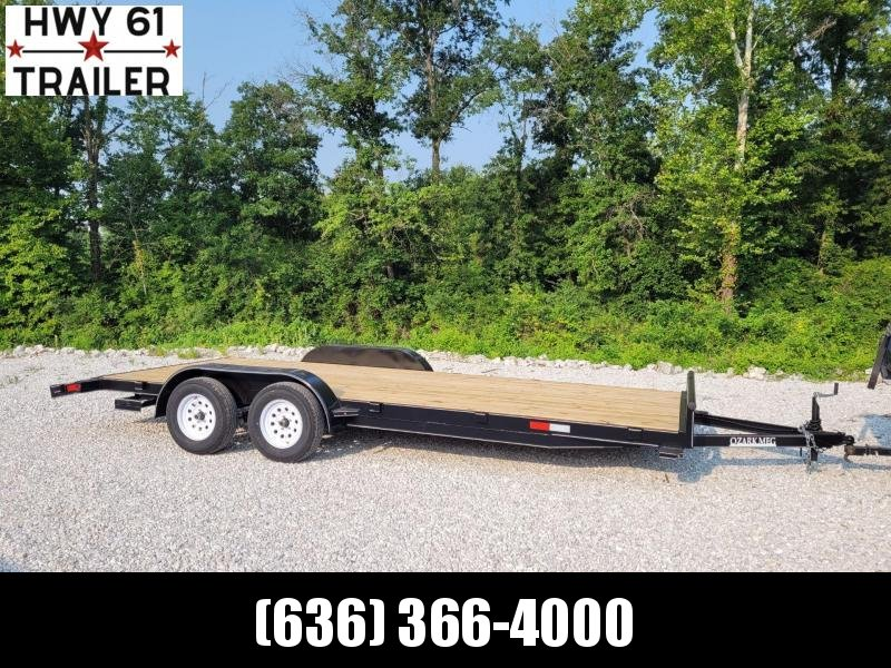 2021 Ozark 82X20 TA 10K 5' HD fold down ramps equipment trailer