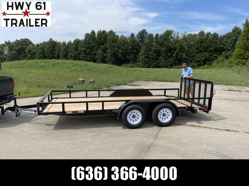 2022 OZARK 82x16 TA 7K 4' HD gate utility trailer