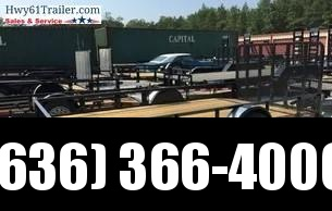 "2020 Heartland 77""X14 SA 4' SPRING LOADED REAR GATE Utility Trailer"