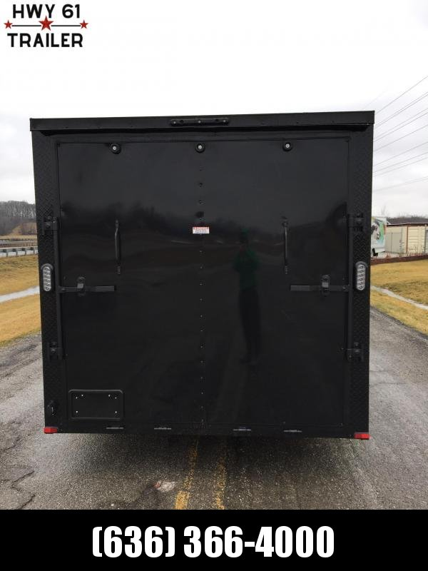 """2021 ARISING 7X18 TA V-nose 3500 AXLES SIDE VENTS 6'3"""" BLACKOUT  WHOLESALE PRICING!"""