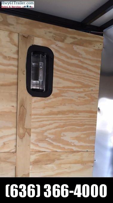 "2021 ARISING 6x12 TA V-nose ramp 3500 lb axles Side Vents Lockbar Semi Seamless 6'3"" Black Out"