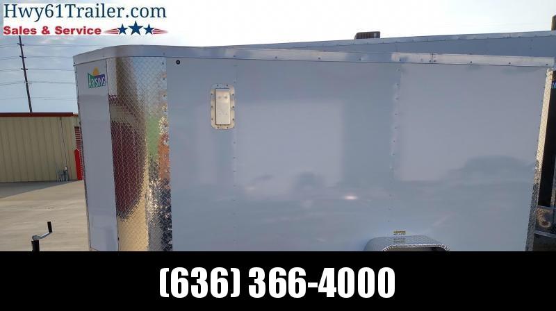 "2021 ARISING 6X10 SA w/ 3500 lb Axle Side Vents 6'3"" White"