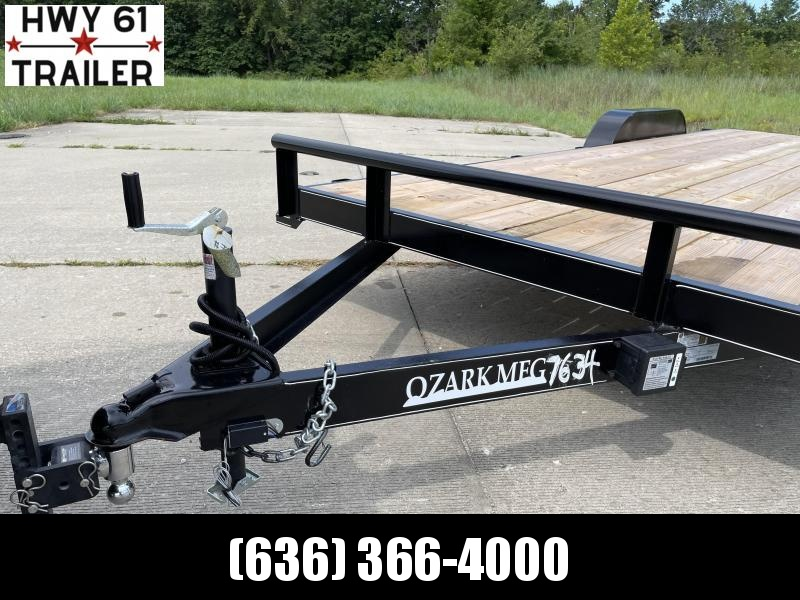 2021 Ozark 76x18 TA 7K 3' gate 2' dovetail utility trailer