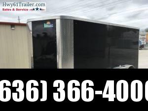 2020 ARISING 7X14 TA V-NOSE RAMP DOOR 3500 LB AXLES BLACK WHOLESALE PRICE!!