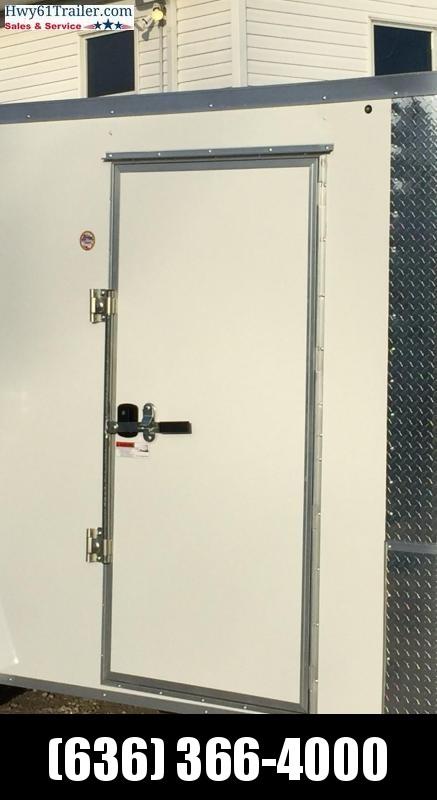 2021 ARISING 6X12 SA Enclosed w/ 3500 lb Axle Ramp Door White