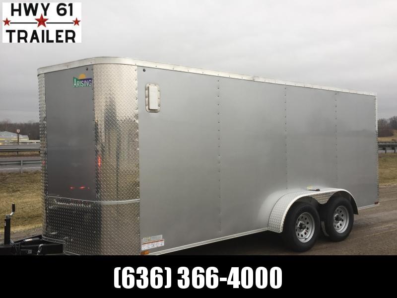 "2021 ARISING 8.5X20 TA 52K 6'6"" v-nose Silver enclosed"
