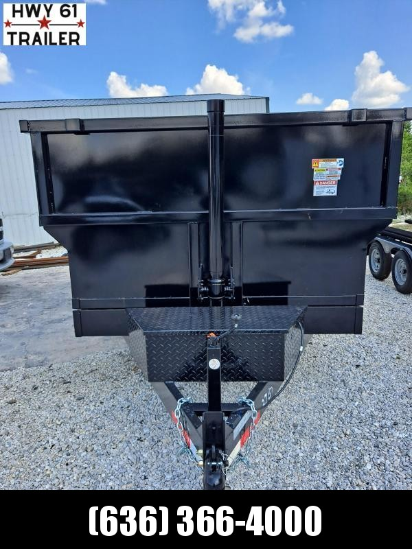 2021 US Built 7X16X4 TA DUMP TRAILER 16K 4' SIDES