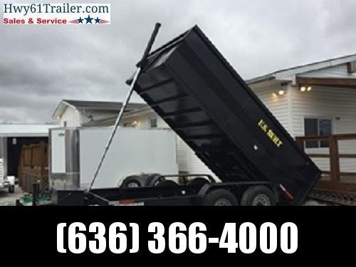 2020 US BUILT 7X14X2 TA DUMP TRAILER 14K AXLES 2' SIDES WHOLESALE PRICING!