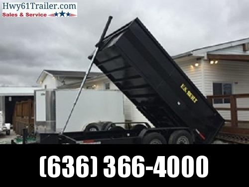 2021 US BUILT 7X14X2 TA DUMP TRAILER 14K AXLES 2' SIDES WHOLESALE PRICING!