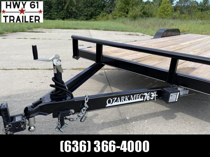 2021 Ozark 82X22 TA 14K 5' HD fold down ramps 2' dovetail 2 brakes equipment