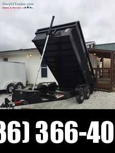 2021 US BUILT 7X14X2 TA DUMP TRAILER 16K AXLES 2' SIDES WHOLESALE PRICING!