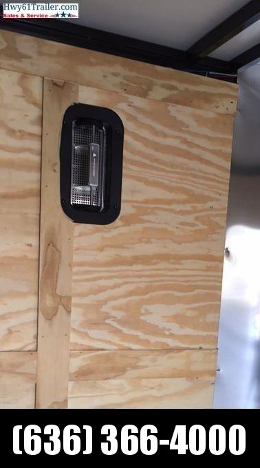 "2021 ARISING 6x12 TA V-nose ramp 3500 lb axles Side Vents Lockbar Semi Seamless 6'3"" Black"