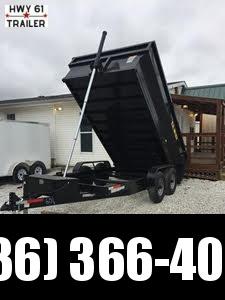 2022 US BUILT 7X14X2 TA 14K 2' sides Dump Trailer