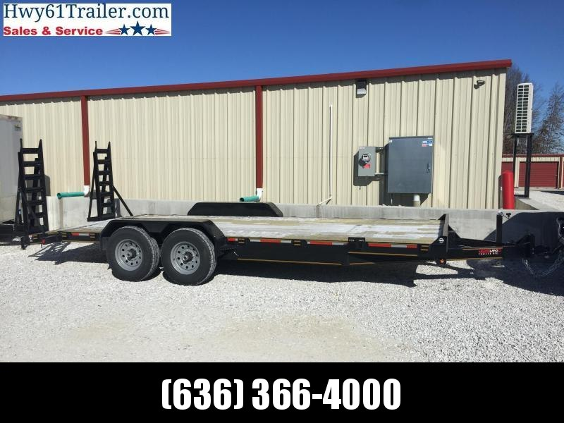 2021  HEARTLAND 77X20 TA Bobcat w/fold up ramps 7K dovetail breakaway switch 2 brakes LIFETIME WARRANTY