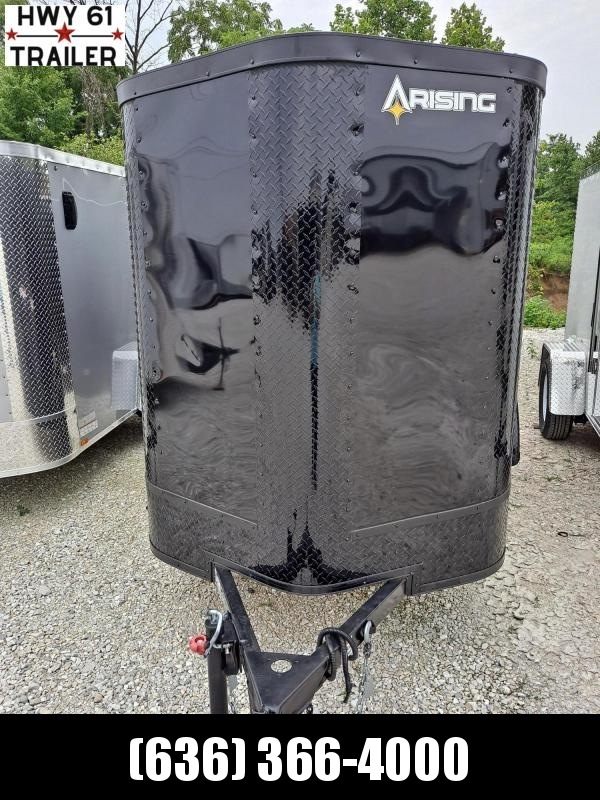 "2021 ARISING 5X8 SA V-nose rear ramp 5'6"" BLACKOUT WHOLESALE PRICE!!!"