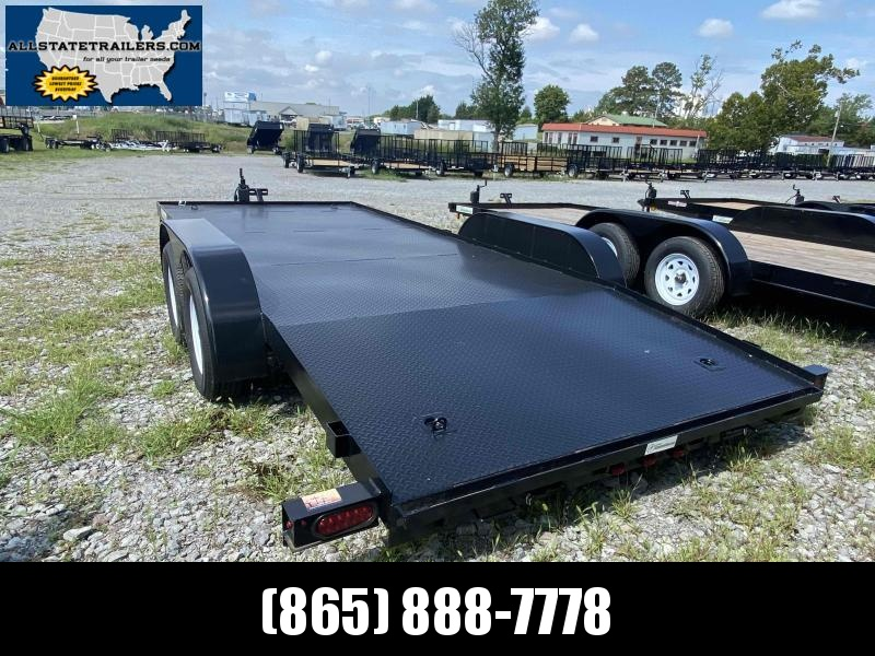 2022 ( 7 X 18)  C718DPF Diamond Plate Floor Currahee Car / Racing Trailer