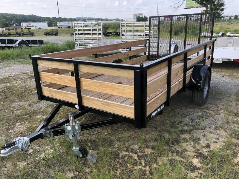 2021 Hustler U1272-15 Utility Trailer 6 x 12 (2' Wood Sides)